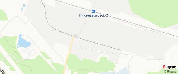 Территория Район ж/д станции Нижневартовск-2 на карте Нижневартовска с номерами домов