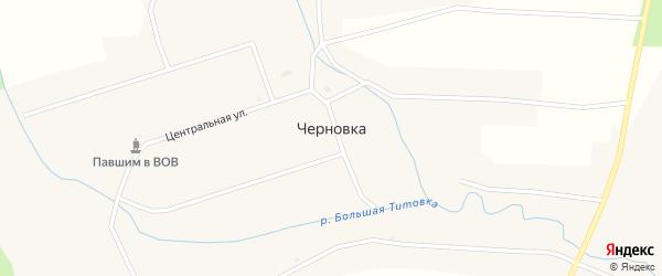 Суворовская улица на карте села Черновки Новосибирской области с номерами домов