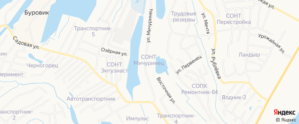 Территория ОНТ СОНТ Мичуринец на карте Нижневартовска с номерами домов