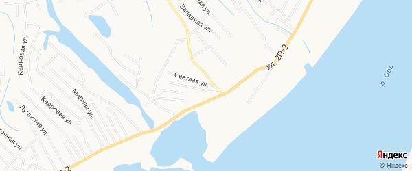 Садовое товарищество СОТ Речник 1 за р.Иртыш (район АБЗ) на карте Ханты-Мансийска с номерами домов