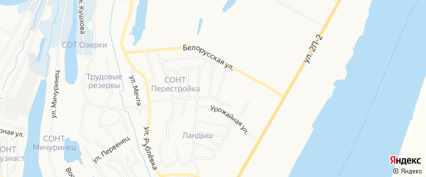 Садовое товарищество СОТ Транспортник на карте Нижневартовска с номерами домов