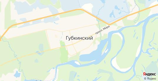 Карта Губкинского с улицами и домами подробная. Показать со спутника номера домов онлайн