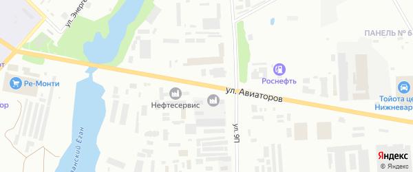 Улица Авиаторов на карте Нижневартовска с номерами домов
