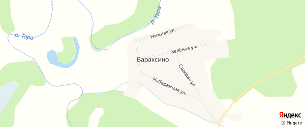 Карта села Вараксино в Новосибирской области с улицами и номерами домов