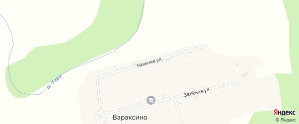 Нижняя улица на карте села Вараксино Новосибирской области с номерами домов