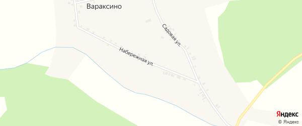 Набережная улица на карте села Вараксино Новосибирской области с номерами домов