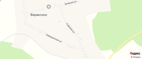 Садовая улица на карте села Вараксино Новосибирской области с номерами домов
