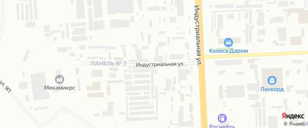 Индустриальная улица на карте Нижневартовска с номерами домов