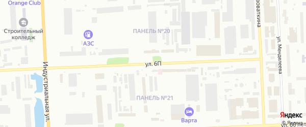 Улица 6П на карте Нижневартовска с номерами домов