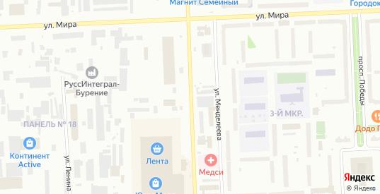 Улица Кузоваткина в Нижневартовске с номерами домов на карте. Спутник и схема онлайн