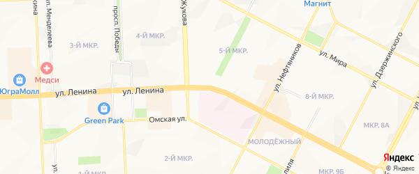 Карта поселка МУ-15 города Нижневартовска в Ханты-Мансийском автономном округе с улицами и номерами домов
