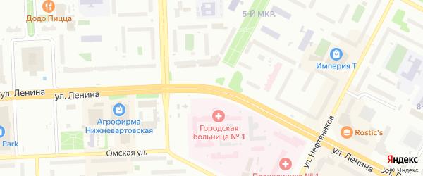 Иркутский переулок на карте Нижневартовска с номерами домов