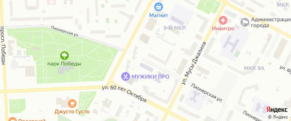 Пионерская улица на карте Нижневартовска с номерами домов