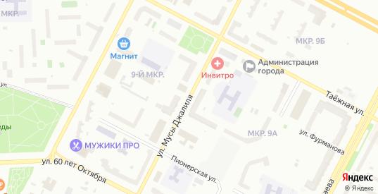 Улица Мусы Джалиля в Нижневартовске с номерами домов на карте. Спутник и схема онлайн