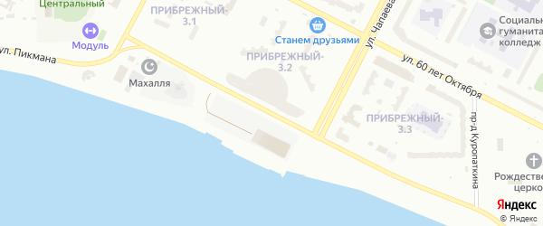 Улица Г.И.Пикмана на карте Нижневартовска с номерами домов