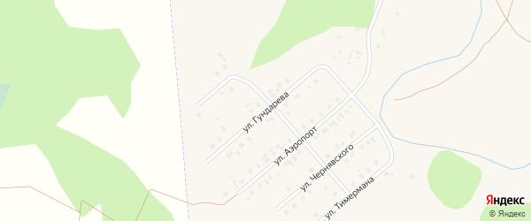 Улица Гундарева на карте села Кыштовки Новосибирской области с номерами домов
