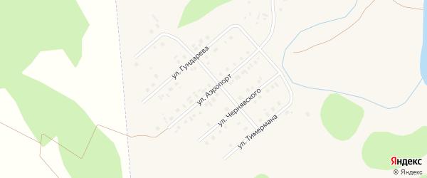 Улица Аэропорт на карте села Кыштовки Новосибирской области с номерами домов