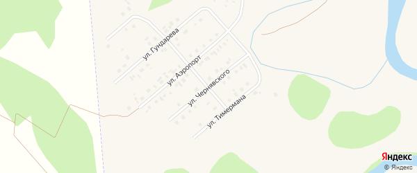 Улица Чернявского на карте села Кыштовки Новосибирской области с номерами домов
