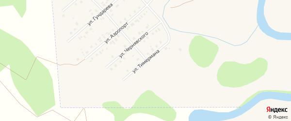 Улица Тимермана на карте села Кыштовки Новосибирской области с номерами домов