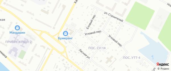 Переулок Спасателей на карте Нижневартовска с номерами домов