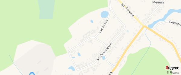 Светлая улица на карте села Кыштовки Новосибирской области с номерами домов