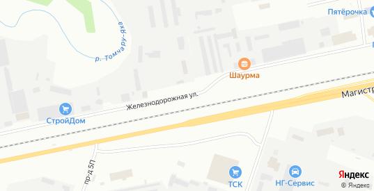 Железнодорожная улица в Новом Уренгое с номерами домов на карте. Спутник и схема онлайн