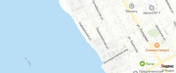 Набережная улица на карте Нижневартовска с номерами домов