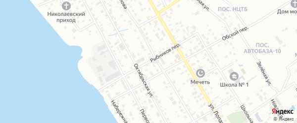 Переулок Рыбников на карте Нижневартовска с номерами домов