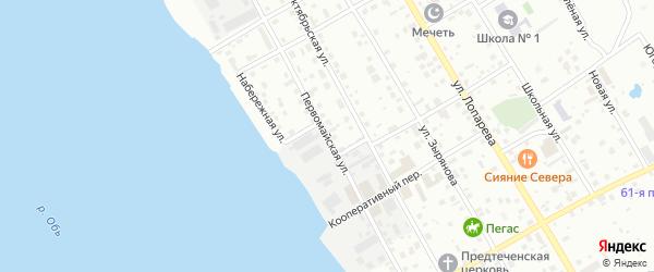 Первомайская улица на карте Нижневартовска с номерами домов