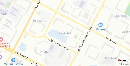 Улица 20П Западный промышленный узел в Нижневартовске с номерами домов на карте. Спутник и схема онлайн
