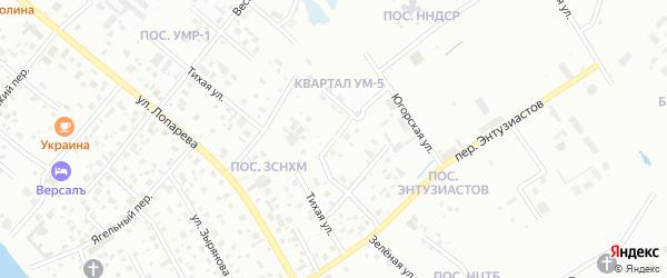 Теплый переулок на карте Нижневартовска с номерами домов