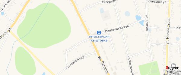 Улица Ленина на карте села Кыштовки Новосибирской области с номерами домов