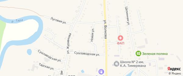 Новая улица на карте села Кыштовки Новосибирской области с номерами домов