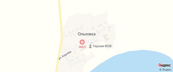 Улица Кирова на карте поселка Ольховки Новосибирской области с номерами домов