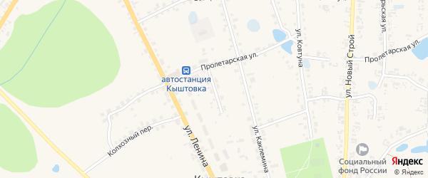 Улица Горького на карте села Кыштовки Новосибирской области с номерами домов