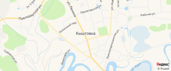 Карта села Кыштовки в Новосибирской области с улицами и номерами домов