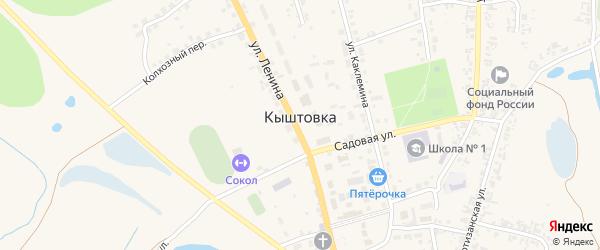 Переулок Промкомбинат (Быткомбинат) на карте села Кыштовки Новосибирской области с номерами домов