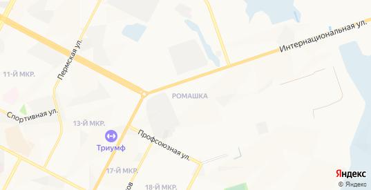 Карта поселка Ромашка в Нижневартовске с улицами, домами и почтовыми отделениями со спутника онлайн