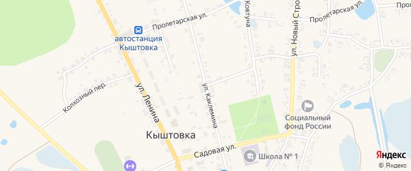Центральная улица на карте села Кыштовки Новосибирской области с номерами домов