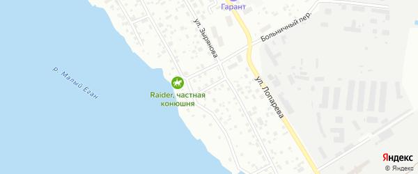 Тепличный переулок на карте Нижневартовска с номерами домов