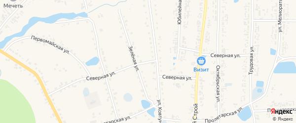 Северная улица на карте села Кыштовки Новосибирской области с номерами домов