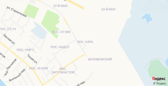 Карта поселка Нзра в Нижневартовске с улицами, домами и почтовыми отделениями со спутника онлайн