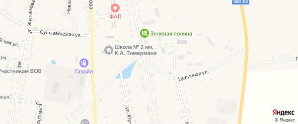 Транспортная улица на карте села Кыштовки Новосибирской области с номерами домов