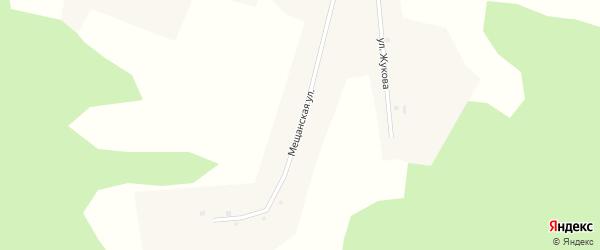 Мещанская улица на карте деревни Пахомово Новосибирской области с номерами домов