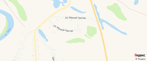 Улица М.Чалтак на карте села Кыштовки Новосибирской области с номерами домов