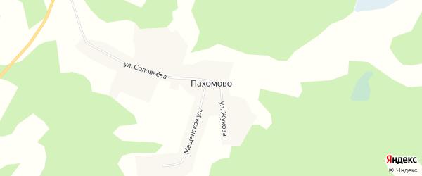 Карта деревни Пахомово в Новосибирской области с улицами и номерами домов