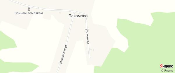 Улица Жукова на карте деревни Пахомово Новосибирской области с номерами домов