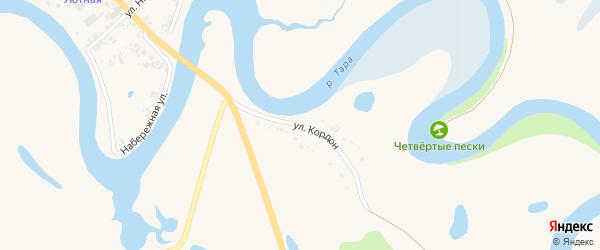 Улица Кордон на карте села Кыштовки Новосибирской области с номерами домов