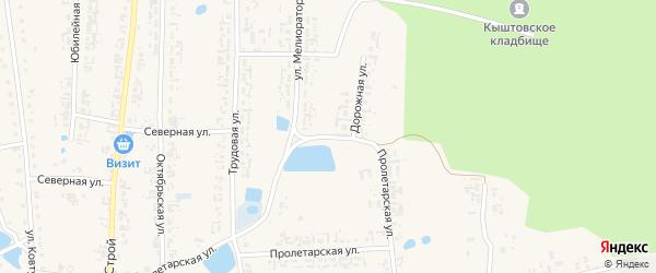 Дорожная улица на карте села Кыштовки Новосибирской области с номерами домов