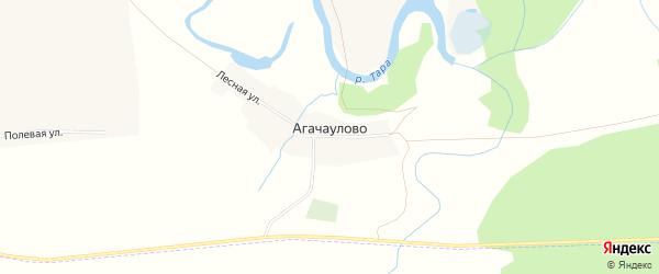 Карта деревни Агачаулово в Новосибирской области с улицами и номерами домов